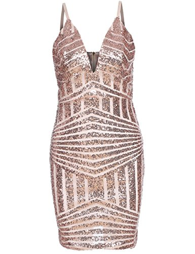 Womens Sequin Spaghetti Bodycon Cocktail product image