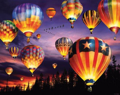 White Mountain Puzzles Balloons Aglow - 1000 Piece Jigsaw Puzzle