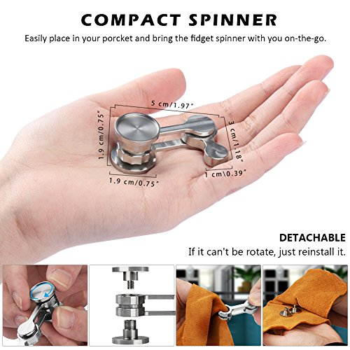 Anti-Anxiety Fidget Spinner, Fidget Hand Toys Focus Finger Spinning Toy for Kid and Adult Relieving Stress Boredom ADHD Autism