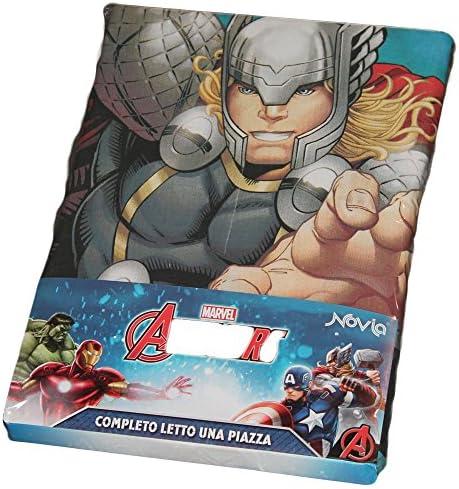 Completo Letto Lenzuola copriletto Iron Man Originale Avengers Civil War Marvel Italia BY BASSETTI Singolo Una 1 Piazza