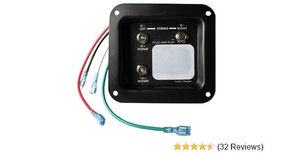 Jack plate - Mono/Stereo Plug and Play on