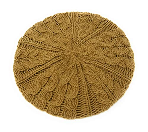 - Michael Kors Cable Knit Beret (Camel)