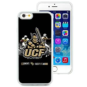 Fashionable And Unique Designed With NCAA American Athletic Conference AAC Football UCF Knights 3 Protective Cell Phone Hardshell Cover Case For iPhone 6 4.7 Inch TPU Phone Case White
