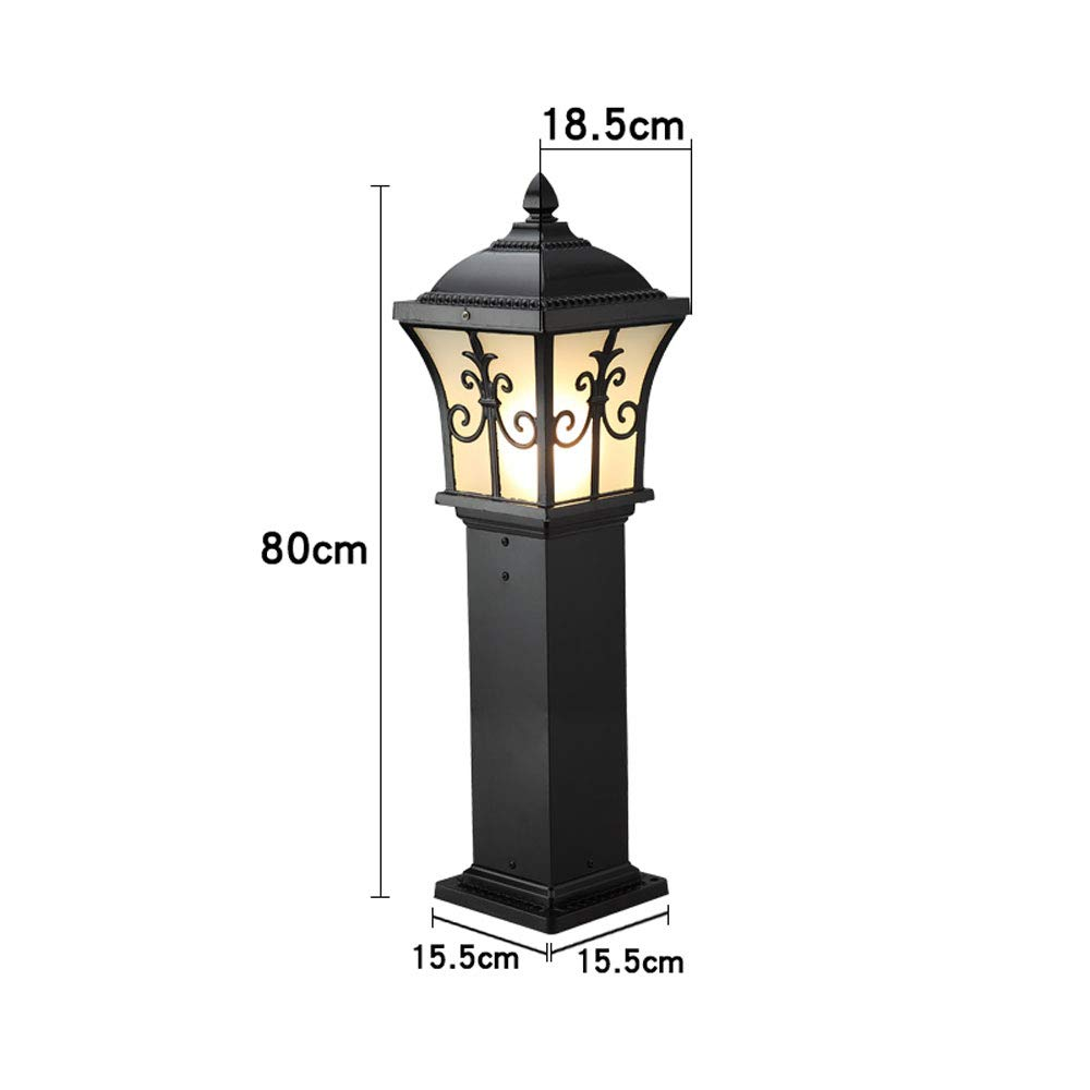 European Outdoor Waterproof Lawn Light, Garden Light/Wall Light/Garden Light/Landscape Light (Color : Black 80) by Outdoor lighting (Image #4)