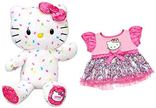 Build a Bear Workshop Hello Kitty 40th Anniversary 18 in. Stuffed Plush Animal Sanrio Toy