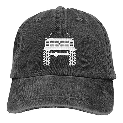 1980's 90's K5 Blazer Lifted Mud Tires Truck Adjustable Baseball Caps Denim Hats Cowboy Sport Outdoor