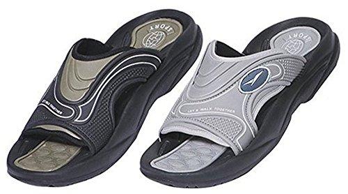 Taille 13 - Glissement De Sandal De Glissement De Caoutchouc Des Hommes Douchette Confortable