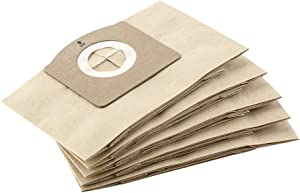 Kärcher Filter Dust Bags x5, for WD1 Compact Battery Wet & Dry Vacuum Cleaner