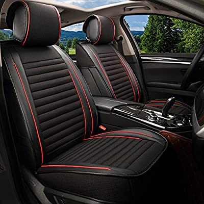 Empire Sport Style Linen/Flax Super Breathable Car Seat Covers 10 pcs Set - Adjustable Seat Cushions for Audi Jeep Ford Mercedes-Benz and 95% Other Types of 5 seats Cars