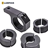 "LAMPHUS Cruizer LED Off-Road Light Horizontal Bar Clamp Mounting Kit 1""/ 1.5""/ 1.75""/ 2"" [1 Clamp] [Includes Allen Hex Key] [User-friendly] - For Light Bar Bull Bar Tube Clamp Roof Roll Cage Holder"