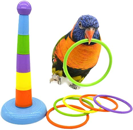 Parrot Intelligence Development Bird Educational Training Stacking Cup Toy