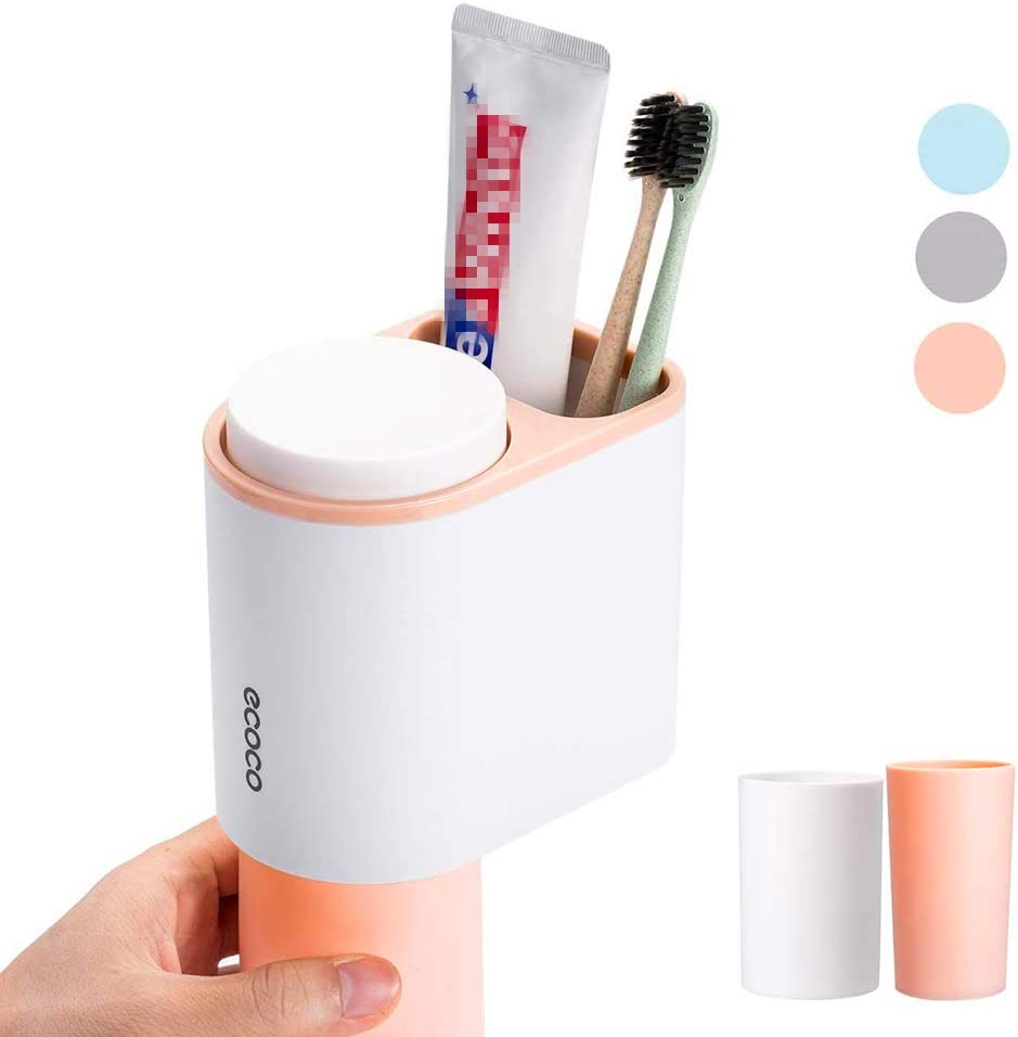 Blue and White Floral Leafy design Toothpaste Dispenser Set of 2