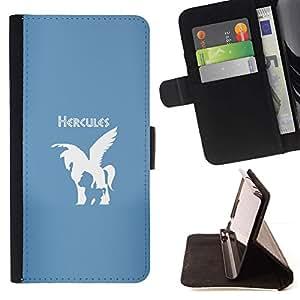 Momo Phone Case / Flip Funda de Cuero Case Cover - Hércules Caballo;;;;;;;; - Samsung Galaxy J3 GSM-J300