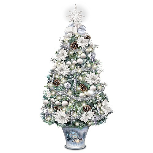 Thomas Kinkade Winter Splendor Tabletop Tree from Bradford Exchange: Lights - Thomas Illuminated Tree Kinkade