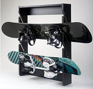 Amazon Com Snowboard Rack 4 Slot Wall Mount Midnight