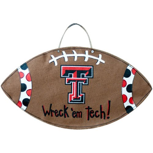 Glory Haus Texas Tech Football Burlee Wall Hanging, 28 by 14-Inch