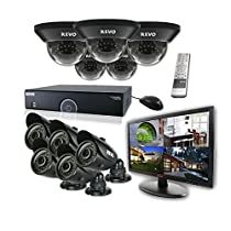 REVO America R165D5GB5GM21-4T 16 Ch. 4TB 960H DVR Surveillance System with 10 700TVL 100 ft. Night Vision Cameras & 21.5 Monitor