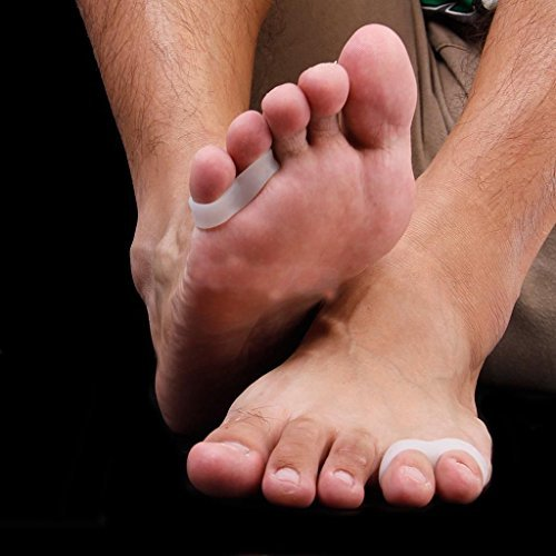 2x Silicone Last Toe Shield Sleeve Pad Cushion Bunion Toe Spacers Splint Separator Stretchers Little Toe Aid Toe Separators Alignment Pain Relieve