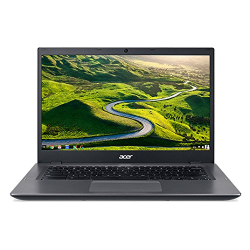 Acer Chromebook 14, Aluminum, 14-inch HD, Intel Celeron Dual core, 4GB LPDDR3 Ram, 16GB Memory, Black, (001 Display Bezel)