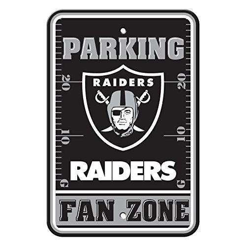 Official National Football League Fan Shop Authentic NFL Parking Sign (Oakland Raiders) (Best Parking For Raiders Games)