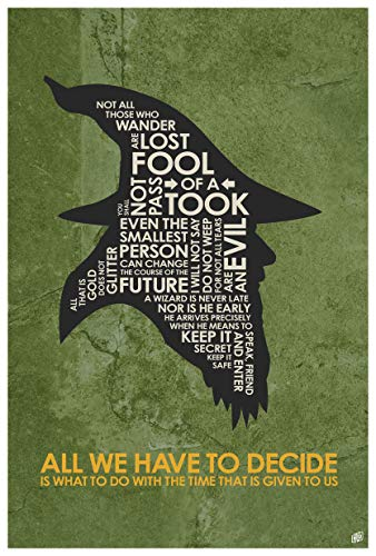 Gandalf, All WE Have to Decide Word Art Print Poster (12