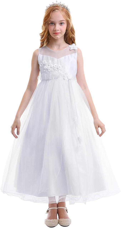 Vestiti Eleganti Da Ragazza.Obeeii Vestito Elegante Da Ragazza Festa Cerimonia Matrimonio