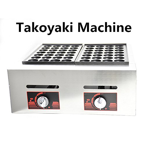 56Pcs/Per Time Commercial Dual Plate Gas Takoyaki Maker Octopus Cluster Takoyaki Machine Fish Ball Griller Meatball Grilling Machine