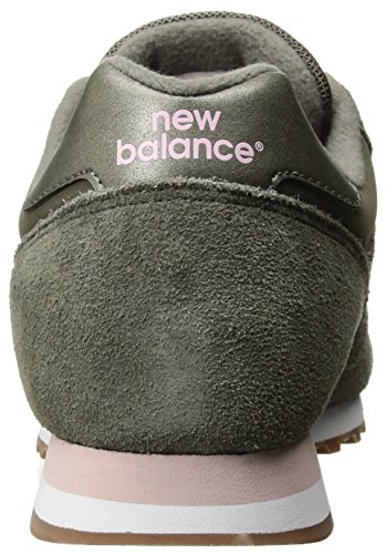 new product fc56b a1cf1 New Balance Women's 373v1 Sneaker, Khaki/Pink, 6 B US
