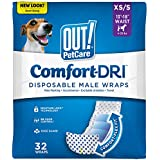 OUT! Disposable Male Dog Diapers | Absorbent Male Wraps with Leak Protection | Excitable Urination, Incontinence, or…