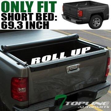 Topline Autopart Lo-Roll Soft Tonneau Cover 04-07 Chevy Silverado/Gmc Sierra Crew Cab 5.8 Ft ()