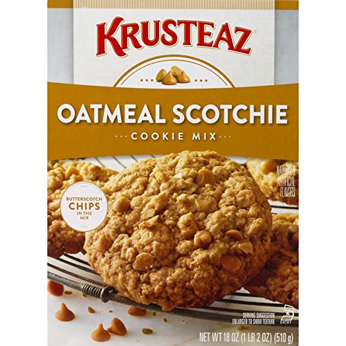 Krusteaz Bakery Style Cookie Mix, Oatmeal Scotchie, 18-Ounce Boxes (Pack of 12)