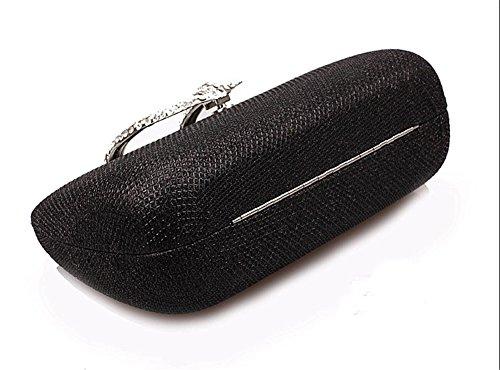 doré pour femme noir moyen Pochette or Flada B8Iwq
