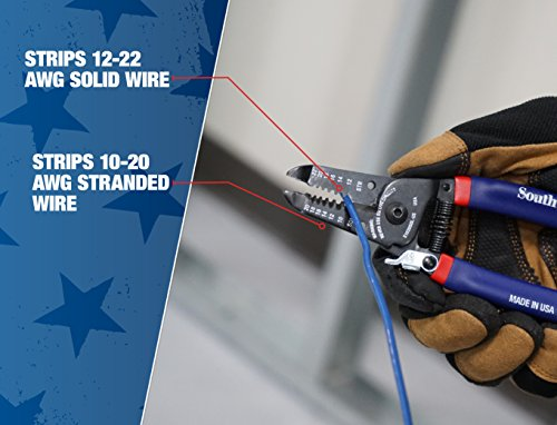 Southwire Tools & Equipment S1020SOL-US 10-20 AWG SOL & 12-22 AWG STR Compact Handles Wire Stripper/Cutter by Southwire (Image #6)