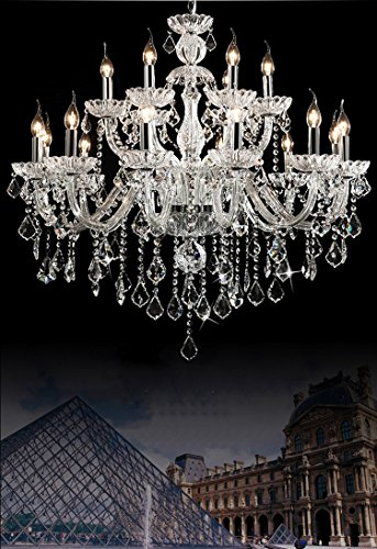 Generic Luxury Pendant Lamp Crystals Chandelier 18 Lights Arms Lamp Color Clear by non-brand (Image #6)