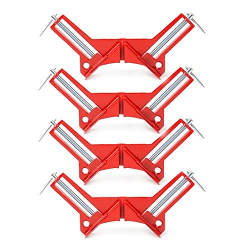 "4 pcs 90 Degree Right Angle Miter Corner Clamp 3"" capacity Picture Frame Holder Woodwork"