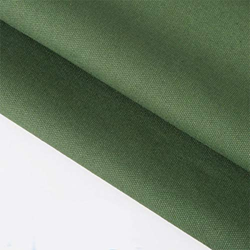 ONECHANCE 100% tela de algodón Tela de lona gruesa Color sólido ...