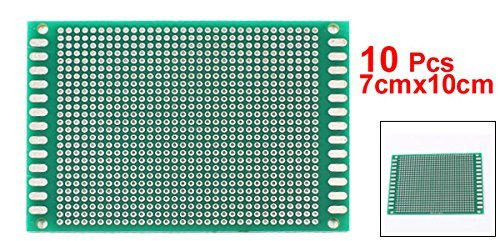 eDealMax a14061100ux0415 DE 10 piezas de bricolaje 7cmx10cm lateral Doble estañado de prototipos PCB Junta Universal de Circuito: Amazon.com: Industrial & ...