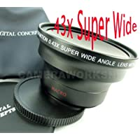 For PENTAX dSLR -A Super .43x Fish Eye / Wide Angle Lens w/MACRO