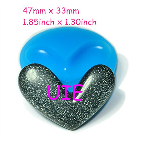 - 196LBP Glistening Heart Silicone Mould 47mm - Cookies Bakeware Polymer Clay Sugarcraft Molds, Fake Food Mold Baby Mould