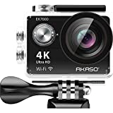 #4: AKASO 4K Wi-Fi sports Action Camera Ultra HD Waterproof DV Camcorder 12MP 170 degree Wide Angle LCD screen/remote, Sage/Silver (EK7000SL)