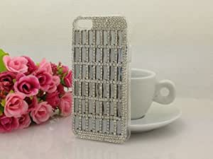Design #03 Bling 3d Rhinestone Crystal Diamond Back Cover Case for iPhone 5 5S + Screen Protector + Wristband with Our Shop Logo