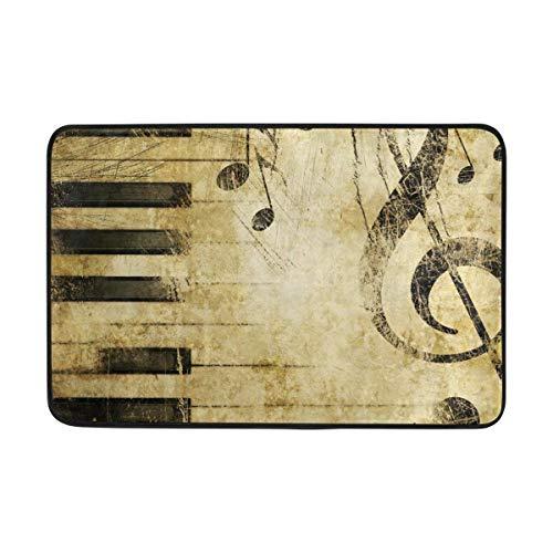 Large beach pants Vintage Music Musical Instruments Doormat Indoor/Outdoor Washable Garden Office Door Mat,Kitchen Dining Living Hallway Bathroom Pet Entry Rugs Non Slip Backing 31.5 x 19.5 inch