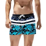 Imax-cite Sexy Men's Boys Beach Hotspring Surfing Swimming Trunks Pants Swimwear Shorts (Stripe 2, UK XS =Tag S)