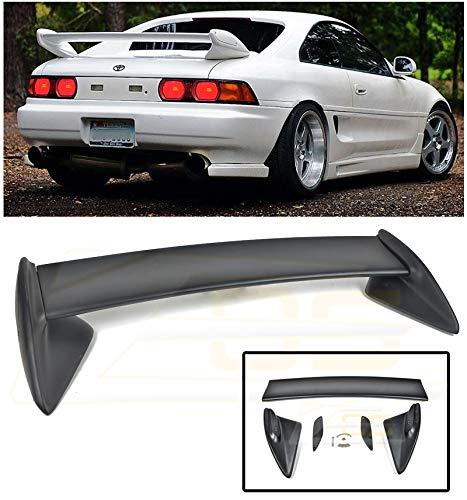 For 1990-1999 Toyota MR2 SW20 | EOS Kouki Style FiberGlass PRIMER BLACK JDM Rear Trunk Lid Wing ()