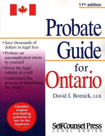 Probate guide ontario david i botnick 9781551804125 books probate guide ontario david i botnick 9781551804125 books amazon solutioingenieria Image collections