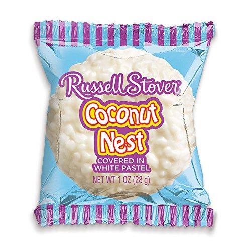 Russell Stover White Pastelle Coconut Nest, 1 oz. Bar