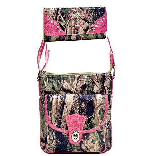Pink Camouflage Messenger Bag - 5