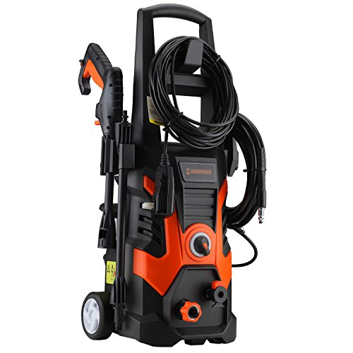 Händewerk 13 AMP 1.5GMP 1900 PSI Electric Pressure Washer with Power Hose Gun, 3 Nozzles Soap Dispenser and Wash Brush by Händewerk