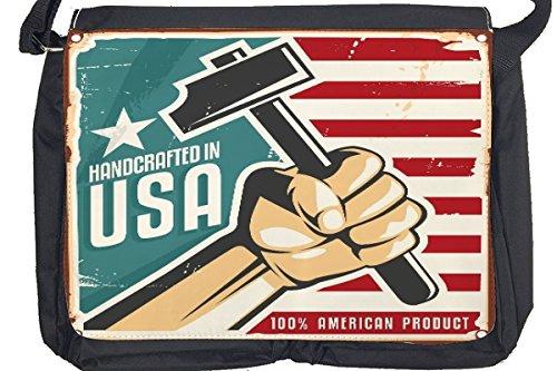 Borsa Tracolla Divertimento USA artigianale Stampato