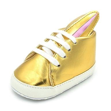 Zapatos de bebé conejo lindo corbata inferior suave deportes ...